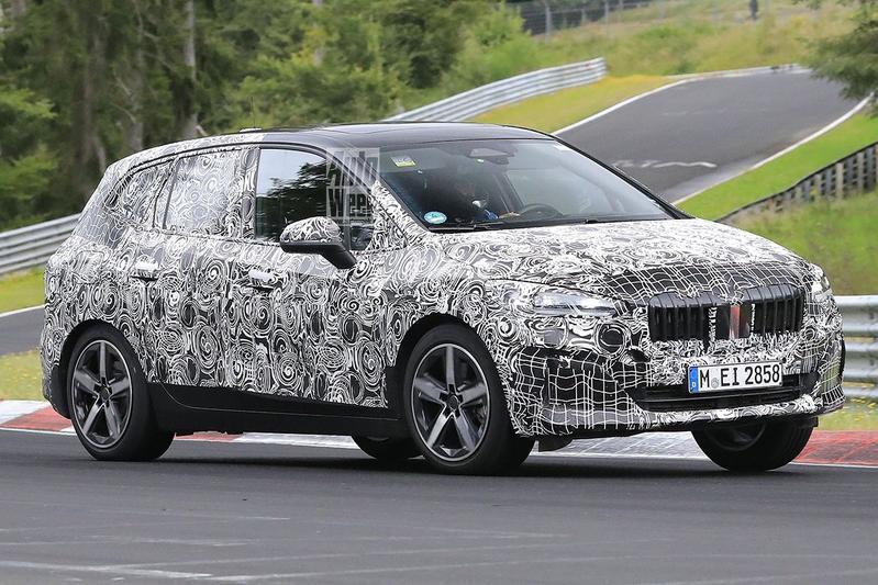 Nieuwe BMW 2-serie Tourer betrapt op de Nürburgring