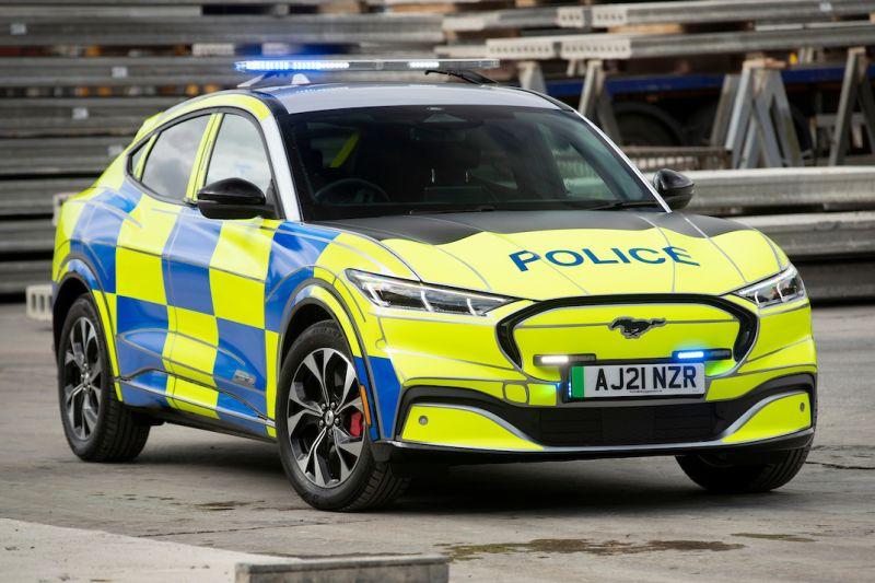 Ford Mustang Mach-E als politieauto